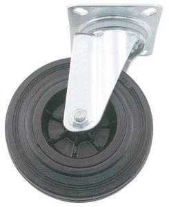 Transport Zwenkwiel met bevestigingsplaat 80 mm