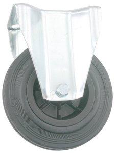 Transport Bokwiel met bevestigingsplaat 100 mm