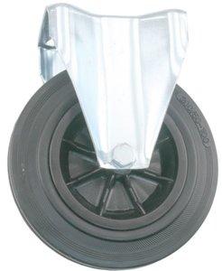 Transport Bokwiel met bevestigingsplaat 200 mm