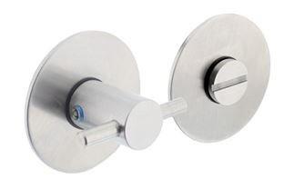 WC-sluiting 5 mm Renovatie Zelfklevend Rond Plat 55x2 mm RVS