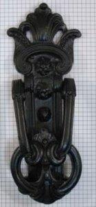 Deurklopper ijzer zwart
