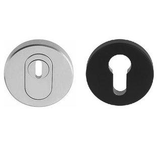 Veiligheid-Rozet Met Kerntrekbeveiliging Buiten RVS/Binnen Zwart