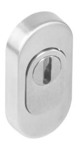Veiligheid-Schuifrozet + kerntrekbeveiliging Ovaal RVS