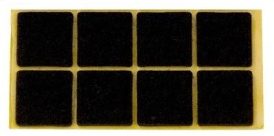 Zelfklevend Vilt Bruin 22 x 36 mm 8 Stuks