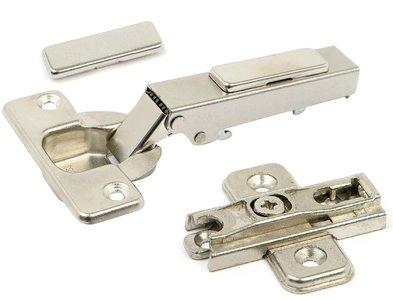 Potscharnier push-to-open Mesuco 143 volledig opdek opschroefbaar 48 mm